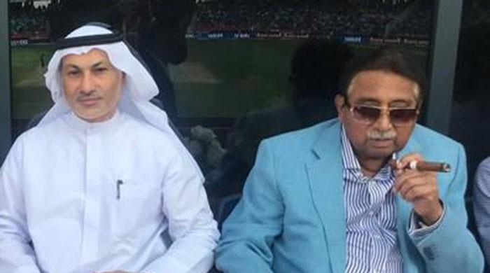 Musharraf's picture goes viral while watching Pakistan-India match in Dubai