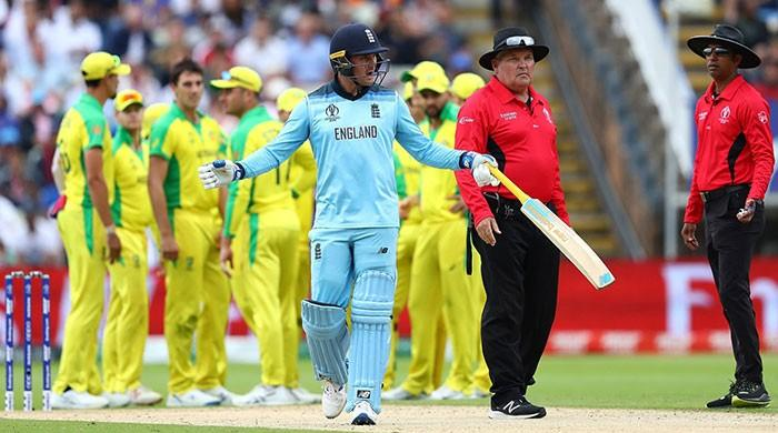 England's Jason Roy cleared to play World Cup final despite umpire outburst