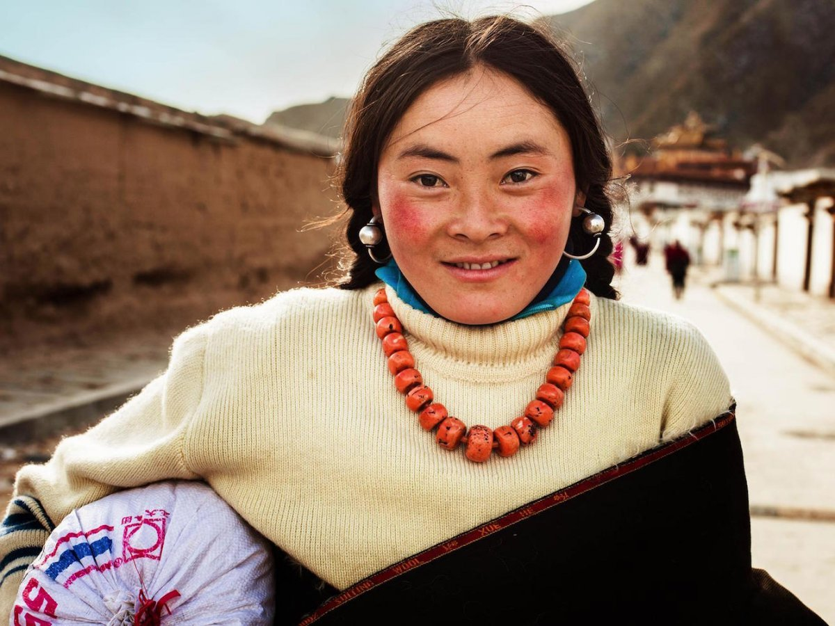 A Tibetan Woman in Xiahe, China photographed by Mihaela Noroc