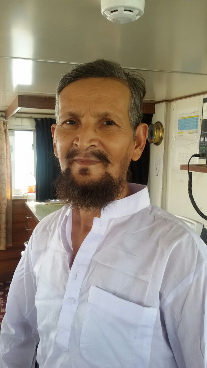 Pictured is Captain Anees ur Rahman, who reportedly died along with six other crew members aboard the vessel