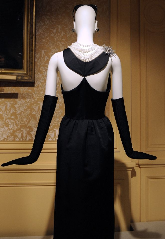 "Fashion designer Hubert de Givenchy created this dress for Audrey Hepbunr to wear in the film ""Breakfast at Tiffany's"" (1961)"