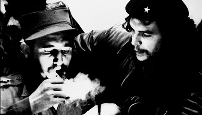 Fidel Castro (L) met Che Guevara, pictured in the 1960s, in 1955 while in exile in Mexico, and the young doctor joined Fidel on the boat that took them to Cuba a year later