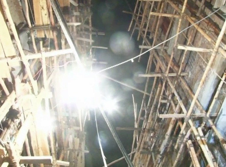 Images from fire in a shoe shop in Moti Bazaar
