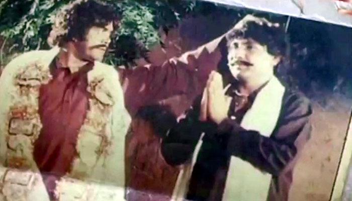 Comedian Ladla (right) seen here alongside Sultan Rahi in a still from a Punjabi movie.