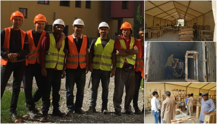 Mahir Shehzad and his team at the Naryn campus site.