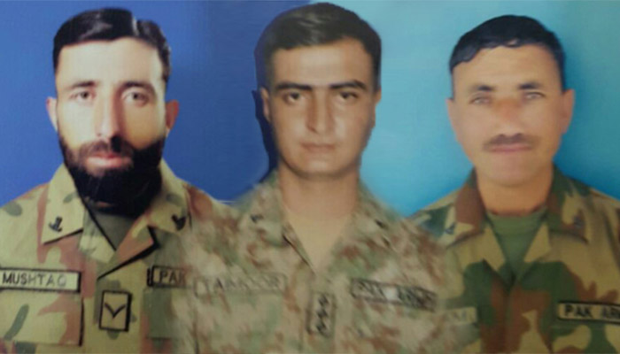 Three soldiers embraced martyrdom