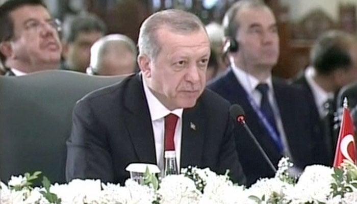 Turkish President Erdogan addressed the summit