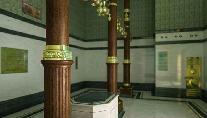 A rare glimpse of kaaba s interior amazing for Interieur kaaba