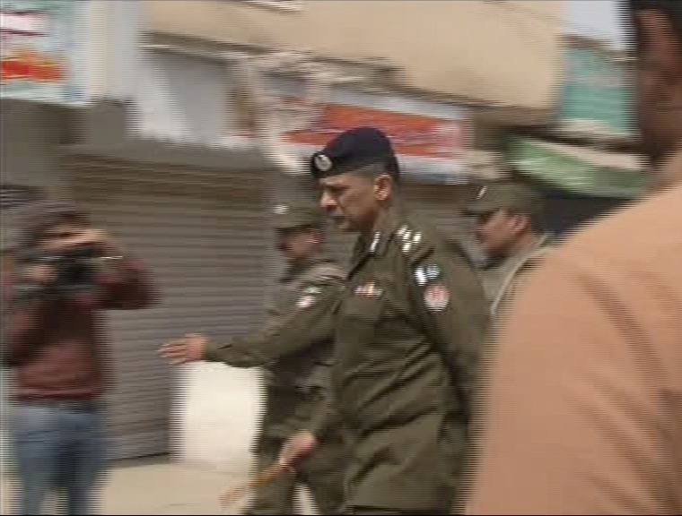 A policeman near the blast site