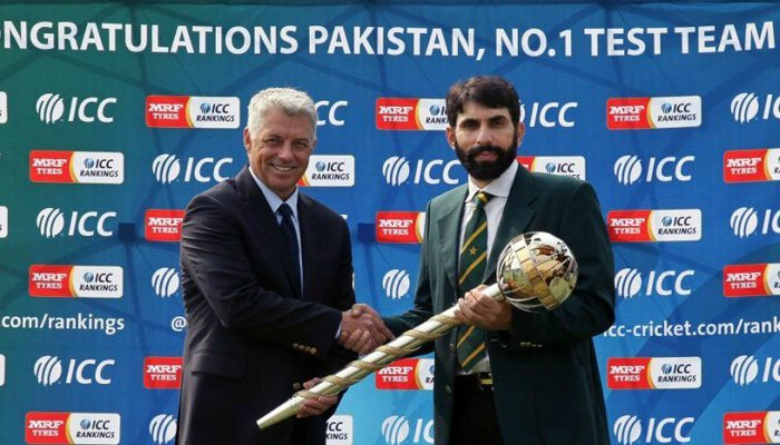 Misbah took Pakistan to No. 1 spot in ICC Test rankings for the first time in the country
