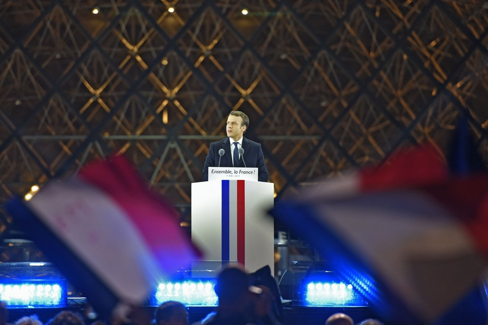 Image result for macron pyramid