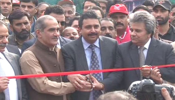 Minister for Railways Saad Rafique inaugurated the Christmas Peace Train service on Thursday