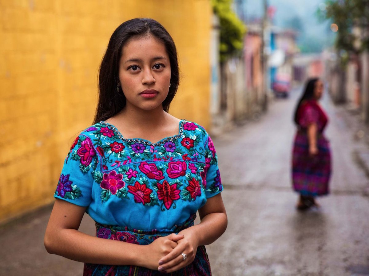 A girl photographed in San Antonio Aguas Calientes, Guatemala photographed by Mihaela Noroc