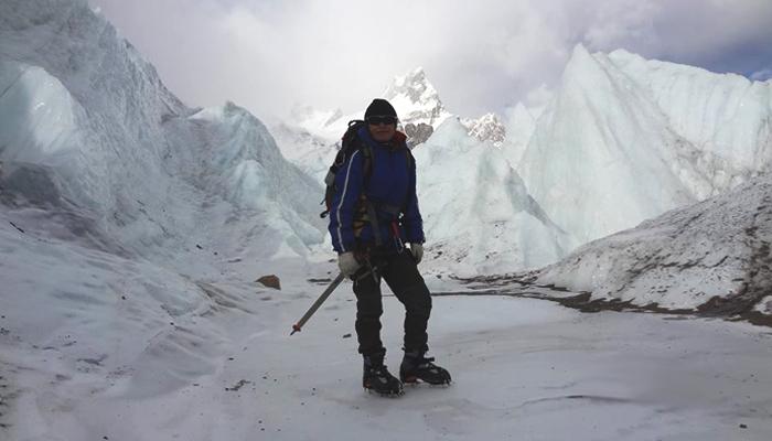 (Samiya Malik at Khurdopin expedition, December 2016. Photo: Samiya Rashid