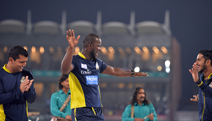 Sammy celebrates by dancing at the closing ceremony of the PSL 2017