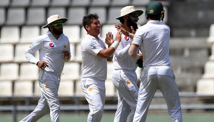 Yasir Shah finished with series haul of 25 wickets/AFP
