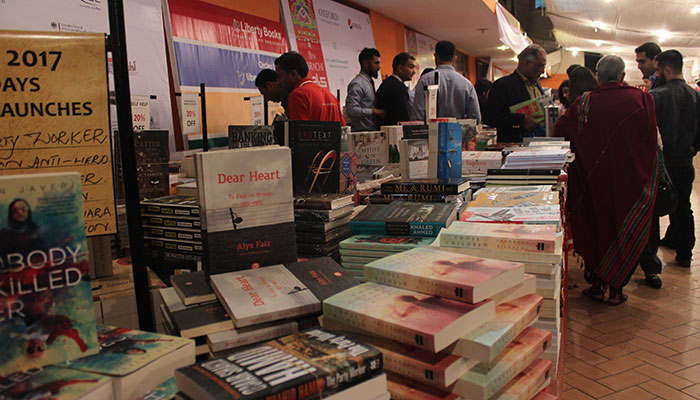 A book fair at the lit-fest exhibits works by local and foreign authours- Geo.tv