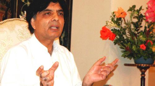 Terrorists now trying to persecute easy targets, says Chaudhry Nisar