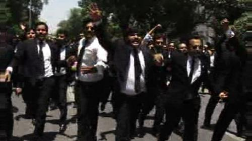 Demonstrations in different cities against killing of lawyers in Daska