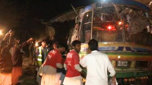 At least 11 dead as bomb targets passenger bus in Quetta; several hurt