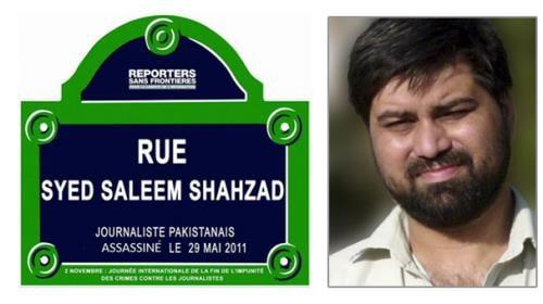 Street in Paris named after slain Pakistani journalist Saleem Shahzad