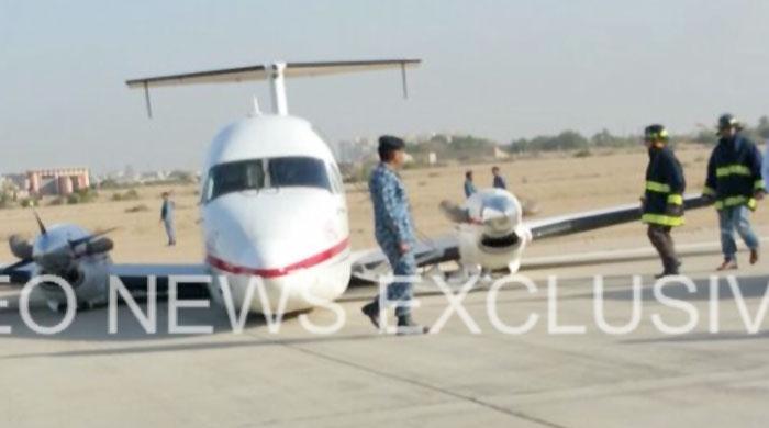 Pilot among three injured as chartered plane crash lands in Karachi