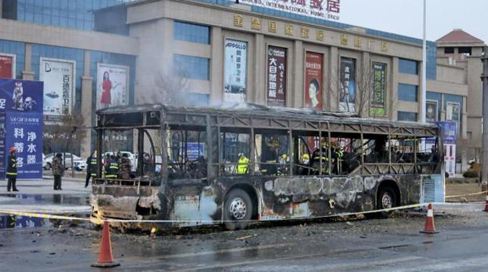 Bus fire kills 30 in central China: Xinhua
