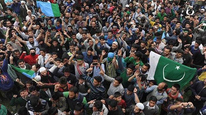 Kashmiris observe Youm-e-Ilhaq-e-Pakistan today