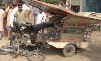 Four die as dumper truck hits vehicles in Lahore