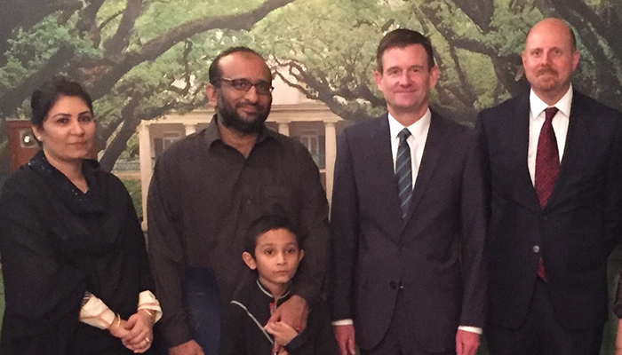 Us ambassador pays respects to family of abdul sattar edhi for Consul retry join