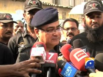 Karachi police chief on killing of security personnel.