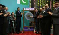 US Ambassador David Hale rings opening bell at Pakistan Stock Exchange