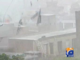 Heavy rain lashes different towns and cities of Punjab and KPK