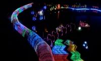 Light shows illuminate northeast China cities