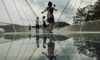 World's longest glass bottom bridge opens in China
