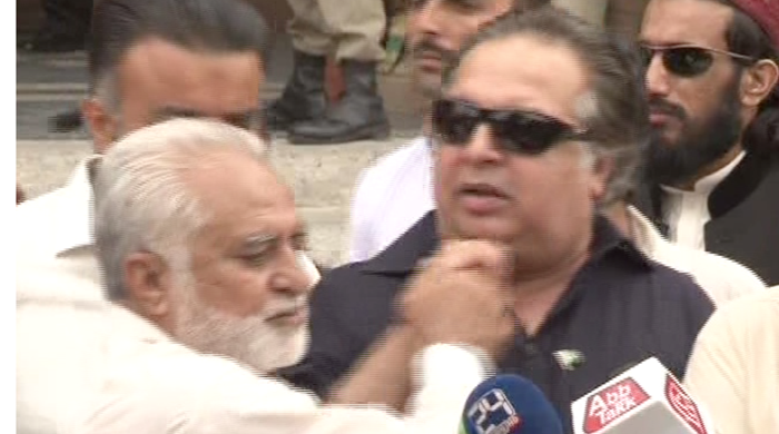 PML-N candidate pushes PTI's Imran Ismail