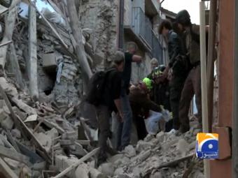 'Voices under the rubble' after quake hits Italy; at least 73 dead.