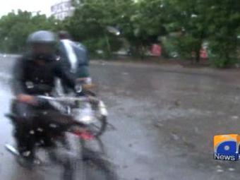 Rain in Karachi.