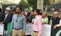 British-Pakistani community protests against MQM founder