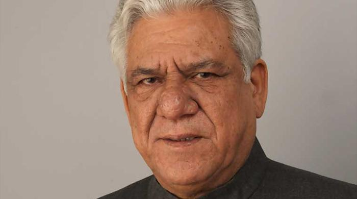 Om Puri in Pakistan to promote film