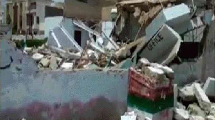 After Karachi, two MQM offices pulled down in Hyderabad