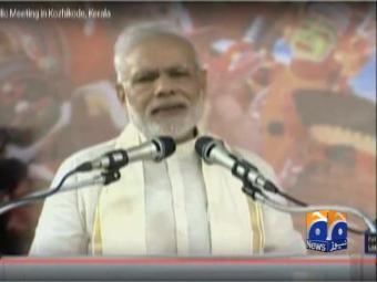 Indian PM Narendra Modi threatens Pakistan.