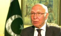 Indian attempts to isolate Pakistan have failed: Sartaj