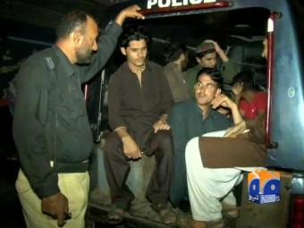 Karachi police arrest 50 suspects in search operation.