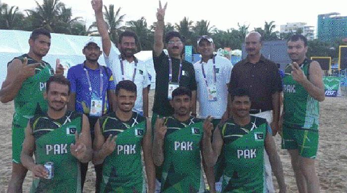 Pakistan beat India to win kabaddi title in Asian Beach Games