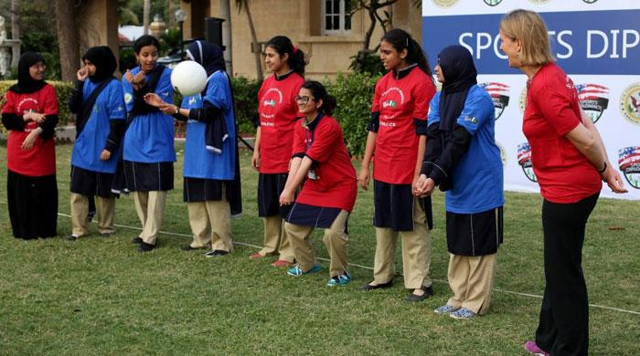 US Consul General Karachi hosts volleyball training for school girls