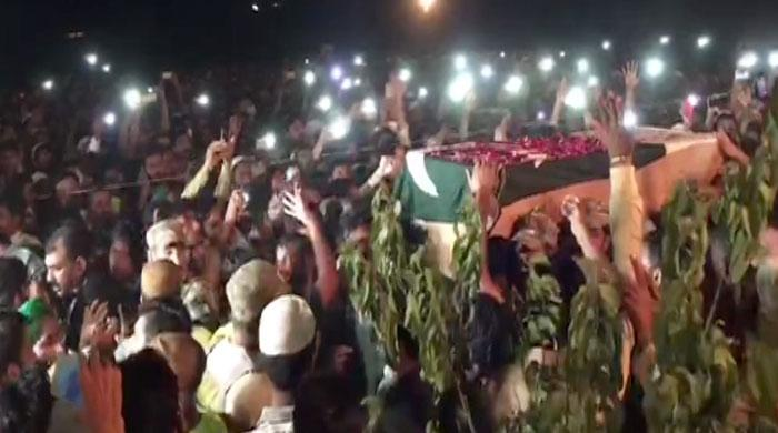 Funeral prayers held of soldier martyred in Indian firing