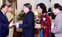 Three envoysdesignate present credentials to President