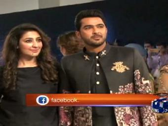 Aisam-ul-Haq fashion show.