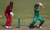 Ton-up Azam lifts Pakistan to 284 for nine against Windies
